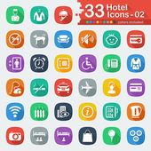 33 white flat hotel icons 02