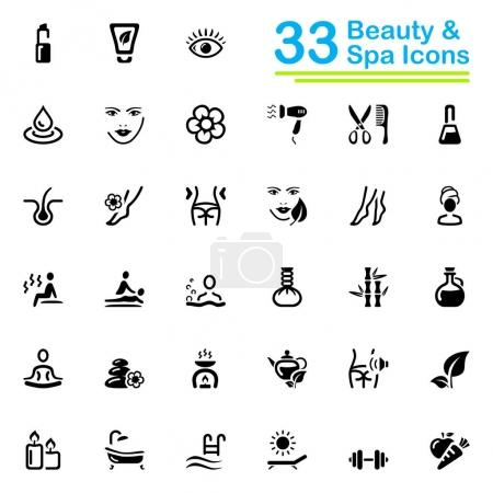 Illustration for Set of 33 vector icons, for web and mobile applications. - Royalty Free Image