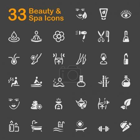Illustration for Beauty and Spa vector icons for mobile phone interface and web. - Royalty Free Image