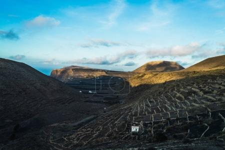 View to hills landscape