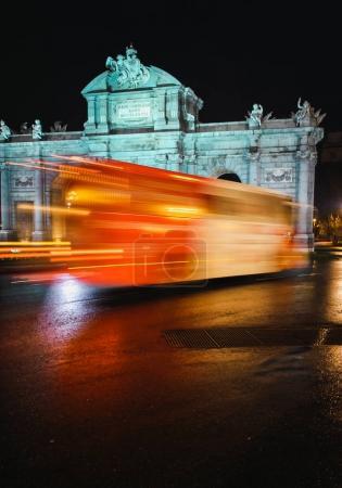 Traffic motion on street in nighttime
