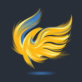 Burning Phoenix bird icon