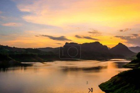 sunset at north Thailand