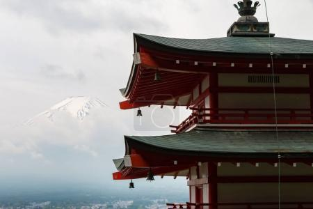 Chureito pagoda with Fuji mountain in background