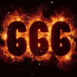 666 Fire Satanic sign gothic style evil esoteric o...