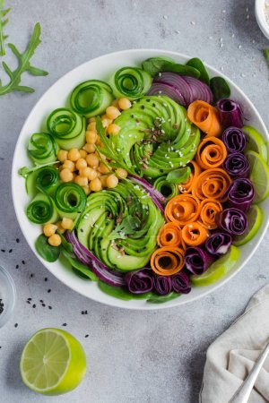 healthy vegan lunch bowl