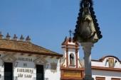 El Rocio (Huelva) Spain. Virgen del Rocio in the village of Rocio de Almonte