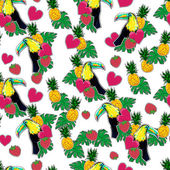 seamless tropical pattern with toucans