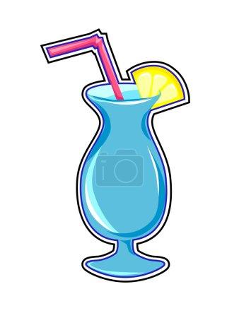 Cocktail drink sticker