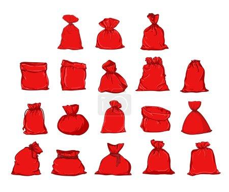 set of canvas sacks