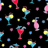 Cocktails seamless stickers vector illustration