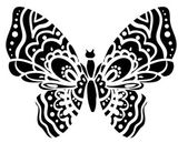 Silhouette of butterfly closeup