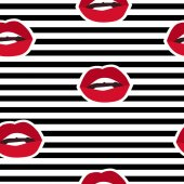 Lips illustration fashion textiles seamless lips seamless vector pattern