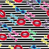 fashion lips pattern