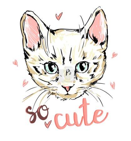 hermoso gato dibujo boceto