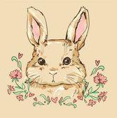 Hand Drawn cute bunny