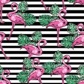 Background  flamingo sketch