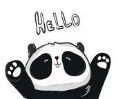 Hand Drawn illustration of panda