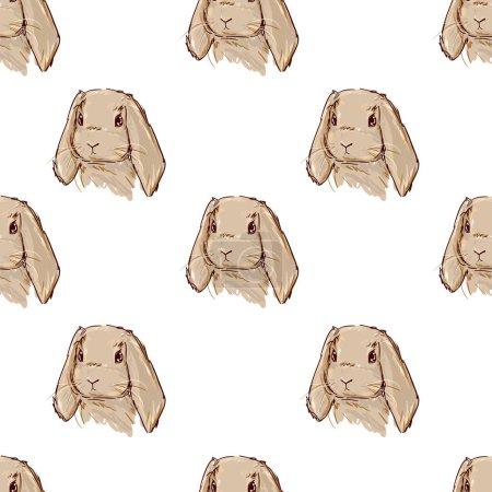 Cute hare pattern