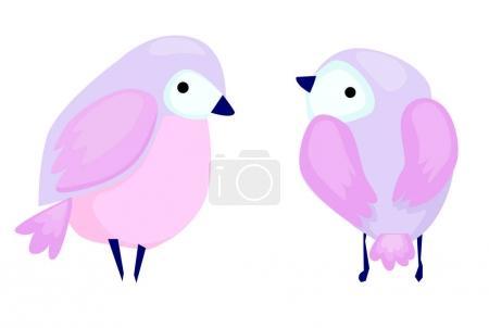 Cute pink birds
