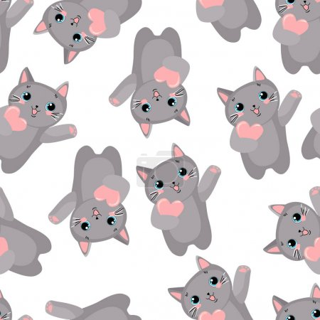 Colorful Pattern with cute cats