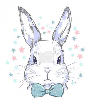 Hand Drawn Illustration of Bunny