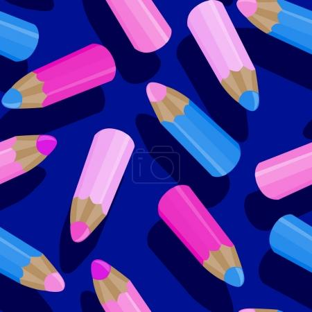 Cartoon pencils pattern