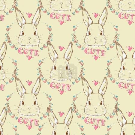 Illustration of Bunnies, rabbits