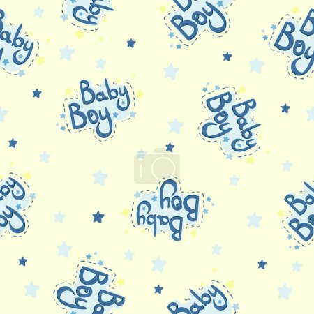 Baby shower seamless pattern