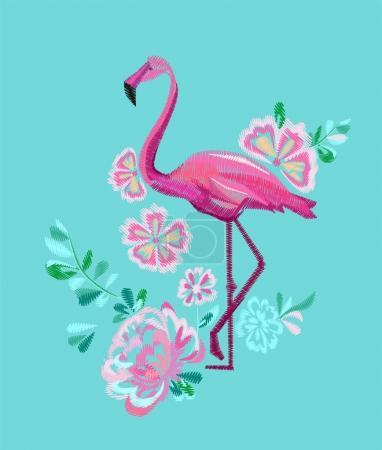 Hand-drawn flamingo