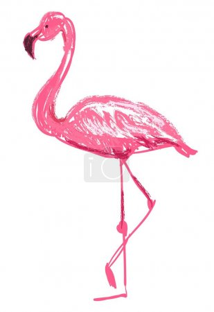 Hand-drawn flamingo