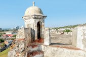 Fort San Felipe in  old town Cartagena, Colombia