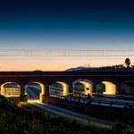 Постер, плакат: Old train overpass in maremma tuscany