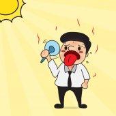 Hot man cartoon design for summer.