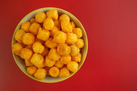 Cheese and chili flavored snack balls