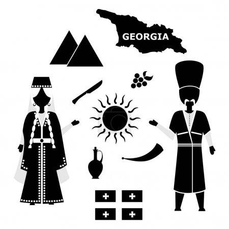 Georgia flat design black