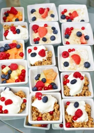 Photo for Healthy breakfast, cereals with a berries and yoghurt - Royalty Free Image