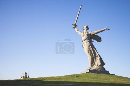 """""""Mamajew Kurgan """"- historischer Gedenkkomplex. Skulptur """"mothe"""