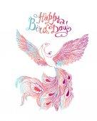 Happy Bird day! Vector card