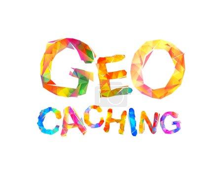 Geocaching. Geometric triangular letters