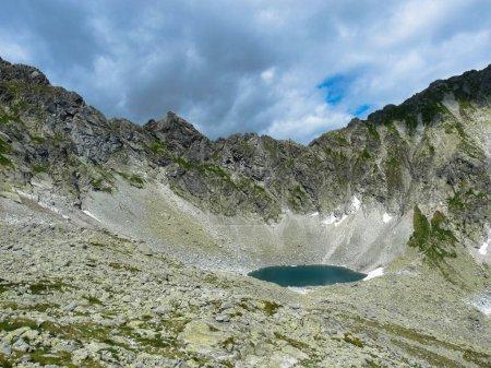 Lake Okruhle pleso in Tatras mountains.