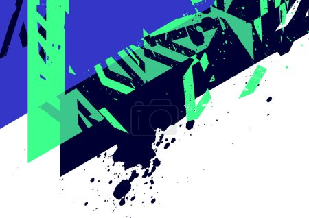 Photo for Abstract grunge template, vector illustration - Royalty Free Image