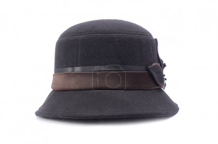Photo for Classic female Cloche hat isolated on white - Royalty Free Image