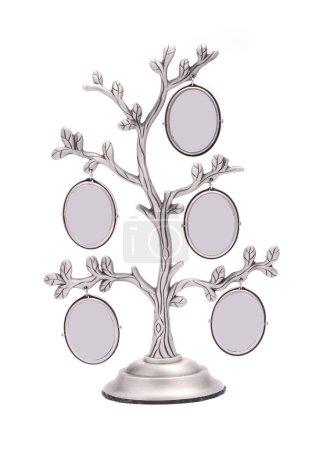 Photo pour Cadre photo d'arbre isolé sur blanc - image libre de droit