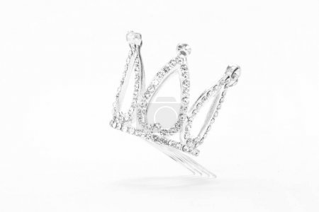 small crown isolated on a white background