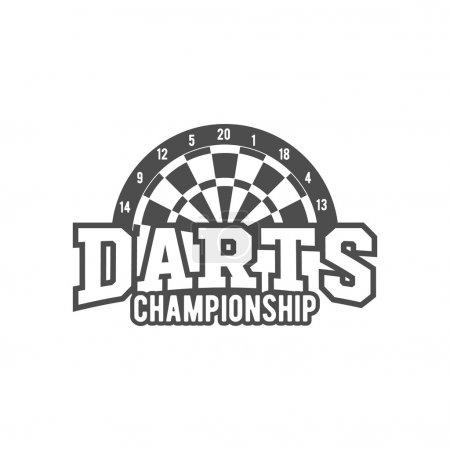Darts championship badge