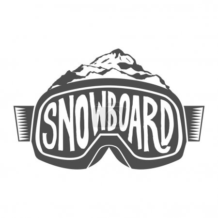 Handdrawn vintage snowboarding quotes