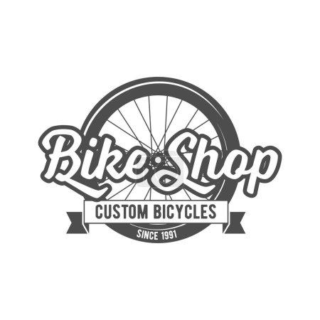 Vintage and modern bicycle  logo
