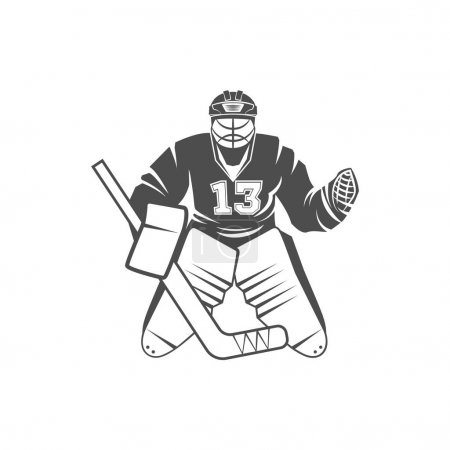 logo with Ice hockey player