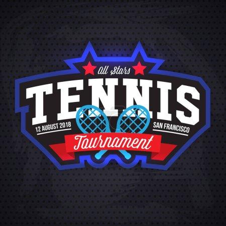 Tennis tournament logo template